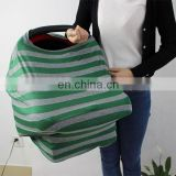 functions as nursing/highchair/striped shopping cart cover