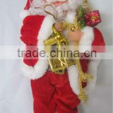 Classical Hot Sell Christmas Santa Claus with Gifts on Hands