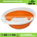 S Plastic Round Kitchen Rice Vegetable Foldable Seive
