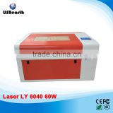 2015 new version LY CO2 laser wood engraving cutting machine 6040,Manual/Electric Table control mode
