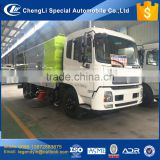 China new tech CLW5161XS3 vacuum sweeping and washing road sweeper truck with 9cbm water tank and 7cbm garbage tank
