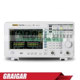 DSA815-TG spectrum analyzer frequency domain 9 kHz to 1.5 GHz RBW 100 Hz to 1 MHz