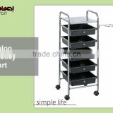 Newest Design Storage Comfortable Beauty Hair Drawer Salon Trolley Cart