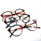 2017 New Arrival Round Plain Mirror Plastic Frame Matte Black Fashionable Eye Glasses
