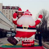 4.5m Height Inflatable Santa Claus with Blower for Christmas Outdoor Decoration