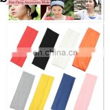 Factory Price Muti-color Ladies Girls Yoga Sports Cotton Sweatband Headband customizable logo Elastic Hair Band