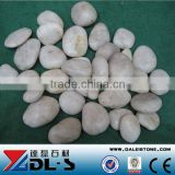 Natural White Cobble Pebble Stone polished A grade outside garden pavingstone, Landscape Paving