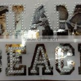 <b>heat</b> <b>transfer</b> film with silver <b>rhinestud</b>s for T shirts and Textiles