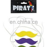 Party multicoloured fake moustache/beard promotion gift MMO-0163