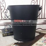 firepalce Heat insulation coal buckets metal coal buckets with wooden handle