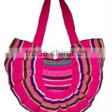 <b>HANDMADE</b> LOOM WOOL <b>FABRIC</b> HANDBAG