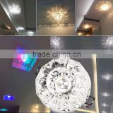 Exquisite 3W LED Modern Crystal Ceiling Light Fixture Lamp Lighting