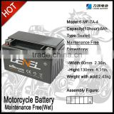 MF12V7A lead-acid motorcycle battery 12V7ah batteries