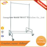 high quality garment rack trolley for hotel laundry room with 4 wheels Kunda C-077