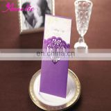 ACW2009 Purple Indian Style Wedding Invitation Card