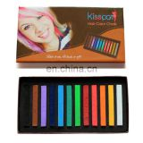 Hot selling temporary hair chalk 12 colors one pack colorful hair dye chalk