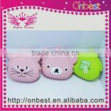 lovely cat ear silicone rubber change/coin purse