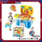 2017 hot sale colorful plastic workshop play tool set toy