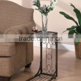 RH-GD1 Metal Snack Table Tray with wood top Coffee Side Table