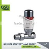 GSG Radiator valve RV117 Bathroom Kitchen Polished Copper Angled Towel Radiator Stop Valve Taps