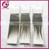 Silver Human Hair Extensions Virgin Brazilian Tape Hair In Stock 7 Days No Reason To Return