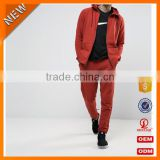 shuliqi factory custom plain modern tracksuit set wholesale men 65% cotton 35%polyester gym jogging tracksuit in red
