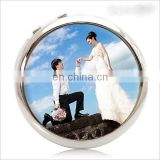 sublimation compact mirror with metal double side