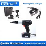 Rechargeable lithium battery rivet gun