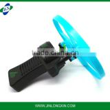 plastic promotional lowre price pull line back flying disk toy
