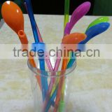 Straw/plastic drinking straw with spoon/hard plastic drinking straw/wide plastic drinking straw