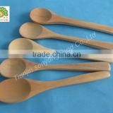 eco -friendly birch wooden baby use knife fork spoon