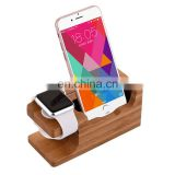 China supplier wood office gift wood cell phone stand with good quality