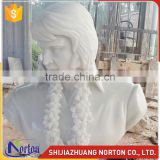 Western style life size carrara marble famous bust sculpture NTMS-005A