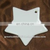 Blank sublimation ceramic ornaments