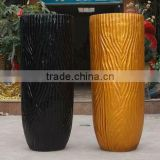 Tall Barky Solid Color Man-made GRP Flower Pot