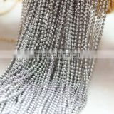 Different Sizes White Steel Copper Beaded Chain Link Cable Chain For Jewelry Diy