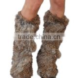 YRFUR YR024 Fashion European Rabbit Fur Leg Warmers/Fashion Warm with Elastic