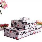 3pcs Waterproof printing closet organizer drawer foldable storage box