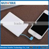 Power bank credit card size micro usb battery charger,2500mah credit card size power bank