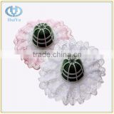 wholesale phenolic resin wet green flower foam with lace