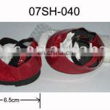 Cute! Mini Red Glitter Shoes with bowknot for Plush Toys and Dolls! Best price!