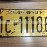 old decor embossed license plate