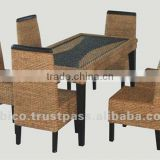 Wood Rattan Dinning room set