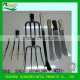 Flat/roung prong garden carton forged fork pitch fork farming tools fork