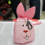 promotional foldable polyester shopping bag rabbit cartoon bag