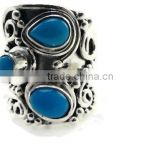 925 Sterling Silver Handmade rare sleeping beauty turquoise Ring