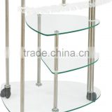 Professional salon equipment salon trolley with glass material