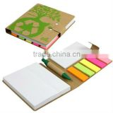 Kraft cover promotion notebook with pen