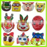 Promotional cartoon PVC Children Animal carton face Masks