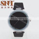 Fashion design quartz <b>watch</b> with <b>black</b> <b>strap</b> and dial